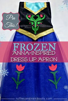FROZEN-Inspired Princess Anna Dress Up Apron - Sewing project for beginners and loved by ALL kids!