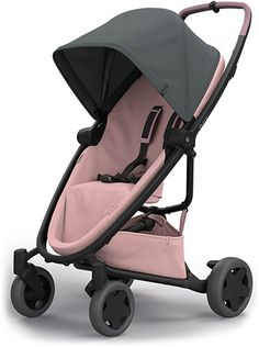 The FLEXible Quinny Zapp Flex Plus has a Graphite sun canopy on a blush color buggy and offers many possibilities of use.