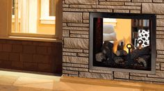 Monessen Covington Clear View See-Thru Direct Vent Gas Fireplace with Signature Command Control System - 48 Inch