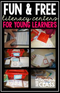 Fun, free literacy work stations for Kindergarten
