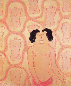 René Magritte, Lola de Valence, 1948, Gouache on paper