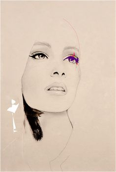 Before Show - Fashion Illustration Art Print - Leigh Viner on Etsy
