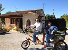 Le vélo taxi : pratique pour rentrer du marché quand on est chargé ...