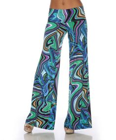 Take a look at this Green & Blue Palazzo Pants by White Mark on #zulily today! I wouldve to know the history on this company. They are so in to the hippie fashions of the 60's. Interesting to watch since I grew up in the 60's.
