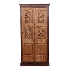 Portuguese Colonial Carved Front Armoire