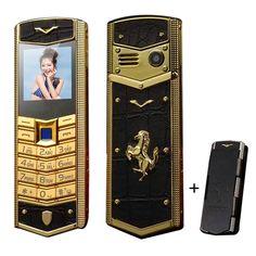 MAFAM V5 Russian Arabic Spanish Signature Vibration wechat bluetooth mp3 mp4 Luxury leather car Gold Mobile phone free case P093