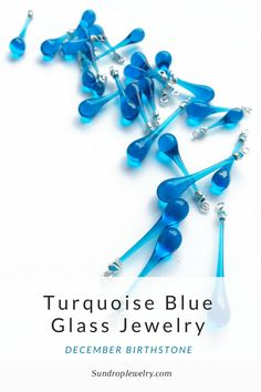 December Birthstone Turquoise Blue Glass Jewelry by Sundrop Jewelry