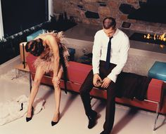 Brad Pitt and Angelina Jolie by Steven Klein, a 1960′s editorial for W magazine