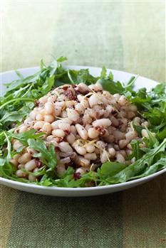 White bean & arugula salad - Barefoot Contessa. http://barefootcontessa.com/recipes.aspx?RecipeID=1000&S=0