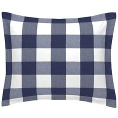 Navy Woven Buffalo Check Standard Pillow Sham Kids Pillows, Throw Pillows, Buffalo Check Bedding, Navy Bedding, Kids Outdoor Furniture, Kids Bean Bags, Project Nursery, Kid Beds, Pillow Shams