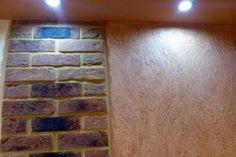 Separate lighting in room on Vandersanden bricks and on creative wall