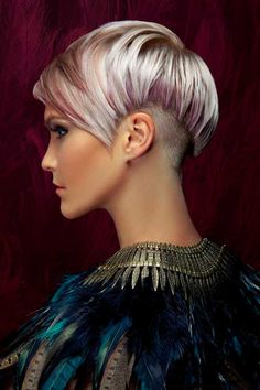 Pink Highlighted Pixie Hairstyle