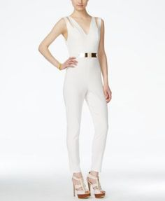 Material Girl Juniors' Sleeveless Belted Jumpsuit, Only at Macy's | macys.com