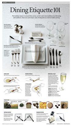 Infographic: Dining Etiquette 101