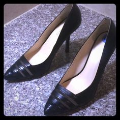 Nine West black pumps size 6 1/2 Nine West shoes size 6 1/2 worn only once they are in perfect condition. True to size. Nine West Shoes Heels