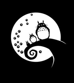"Totoro Sticker Decal Nightmare Before Christmas 12"" Ghibli Laputa Jdm Anime White Car Window Wall Macbook Notebook Laptop Sticker Decal ** You can get more details by clicking on the image."