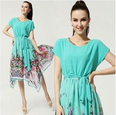 Aliexpress.com : Buy 2013 spring and summer new women, irregular chiffon dress; roses metallic lace collar dress hem!!yf105 from Reliable fashion dress suppliers on Oriental Bo Yu Trading $26.90