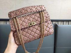 Valentino woman rockstuds chain shoulder bag original leather version