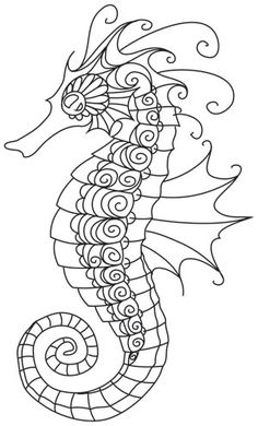 Ocean Blue - Seahorse | Urban Threads: Unique and Awesome Embroidery Designs