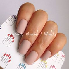 Short Squoval 20pcs Pastel Azuki Nude Hand painted Short