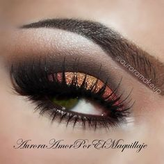 Red & Copper Eye makeup #vibrant #smokey #bold #eye #makeup #eyes