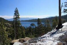 Emerald Bay, Lake Tahoe, California as viewed from Eagle Falls on the Eagle Falls Trail.