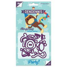 Dendennis Party Die Cut Stencil - Garland Monkey