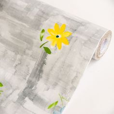 Flowers in Watercolor-1 - Vinyl Self-Adhesive Wallpaper Prepasted Wall stickers Wall Decor (Swatch) $0.10