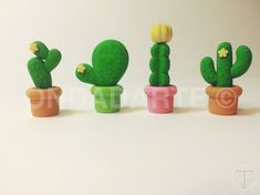 Eraser Cactus plants Hearts Fantasy lozenges stripes or