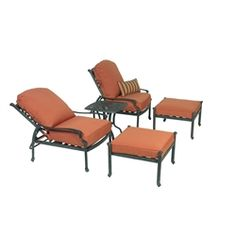 Summerset Ariana 5 Pc Club Recliner And Ottoman Adirondack Furniture,  Outdoor Furniture, Recliner,
