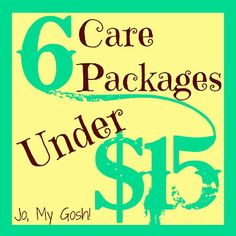 6 Care Packages Under $15. Great for making something simple and cute for your lovey whether he or she is gone or not:)