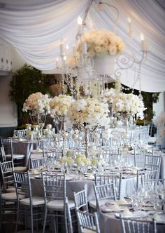 Platinum & Ivory Wedding From Karen Tran Florals Fabric Canopy, Diy Canopy, Canopy Tent, Ikea Canopy, Window Canopy, Wooden Canopy, Canopy Bedroom, Backyard Canopy, Metal Canopy