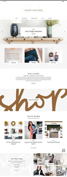 Shop — Station Seven: Squarespace Templates, WordPress Themes, and Free Resources for Creative Entrepreneurs Website Design Inspiration, Beautiful Website Design, Blog Website Design, Portfolio Website Design, Website Layout, Layout Inspiration, Minimal Web Design, Foyer Design, Design Design