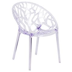 Flash Furniture Fh161Apcgg Vision Transparent Polycarbonate Entrancing Single Dining Room Chairs Design Ideas