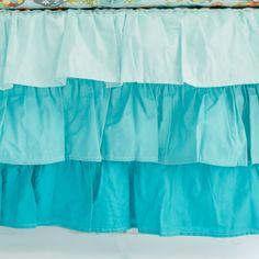 My Baby Sam Ombre Ruffled Nursery Skirt Mint
