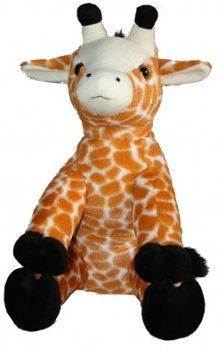 "Singing 16"" plush Giraffe which plays custom music featuring your child's name."