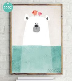 Polar Bear nursery print