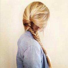 Si tienes él cabello largo  esta hermosa trenza es para ti !!! #mujer #estilo #bellezaviral