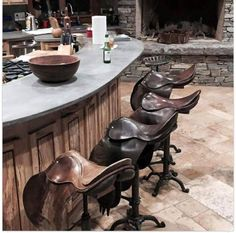 My Dream Kitchen Saddle Chair, Shetland, Equestrian Decor, Western Decor, Ergonomic Chair, Industrial Living, House Goals, Country Kitchen, Country Life