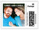 Create personalized Caption Small Postage Stamps to add a special touch. 100% guarantee on Wedding Postage Stamps! | Orders ship in 24-48hrs | Evermine