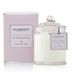 Sistine Chapel Gold Frankincense & Myrhh - Glasshouse Candle. 350g for $39.95. The scent of the very first Christmas!!! #Christmas #wisemen #glasshouse