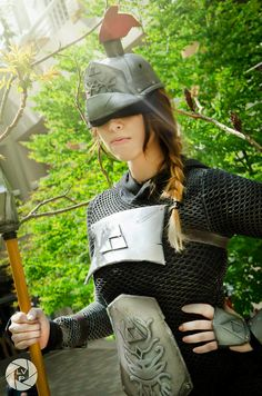 STOP RIGHT THERE! Awesome hylian guard soldier cosplay by Angiechuu   #Zelda #OoT #crossplay
