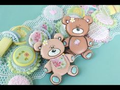 #NEW VIDEO RELEASE: How to Make Teddy Bear Cookies and Icing Pillows, a companion video to last week's 3-D baby cradle cookie video. Video by Julia M Usher of Recipes for a Sweet Life.