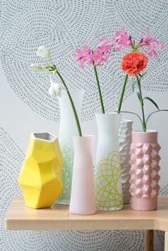 Pfister, Vases with structure and colour #patternpod #beautifulcolor #inspiredbycolor