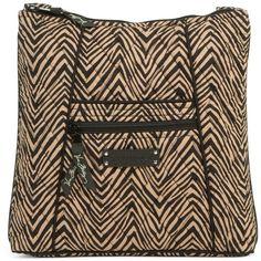 Vera Bradley Hipster Crossbody in Zebra ($42) ❤ liked on Polyvore featuring bags, handbags, shoulder bags, sale, zebra, brown handbags, vera bradley purses, brown cross body purse, zebra print purses and zebra handbag