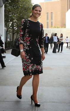HRH Crown Princess Victoria of Sweden in NYC, Oct. 4, 2013.