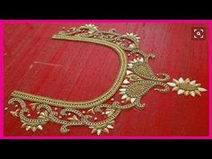 hand embroidery designs for neck Aari Embroidery, Embroidery Works, Embroidery Suits, Hand Embroidery Designs, Simple Embroidery, Pattu Saree Blouse Designs, Bridal Blouse Designs, Hand Work Design, Maggam Work Designs