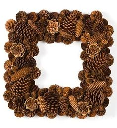 pinecone wreaths diy by emondeaux