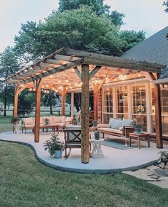 The pergola you choose will probably set the tone for your outdoor living space, so you will want to choose a pergola that matches your personal style as closely as possible. The style and design of your PerGola are based on personal Backyard Patio Designs, Backyard Landscaping, Landscaping Ideas, Backyard Pergola, Backyard Projects, Backyard Porch Ideas, Outdoor Pergola, Backyard Covered Patios, Nice Backyard