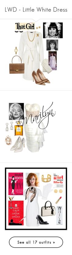 """""""LWD - Little White Dress"""" by jayne3944 ❤ liked on Polyvore featuring Jaeger, Chanel, Manolo Blahnik, Bulova, Brooks Brothers, Boohoo, Topshop, Tiffany & Co., Shourouk and Burberry"""